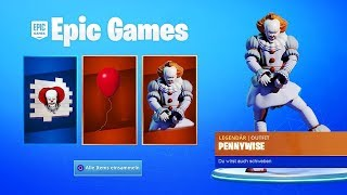 Fortnite x Chapter 2-Rescues 2 items in the Fortnite PENNYWISE SKIN and REWARDS OMG!!!!!!!