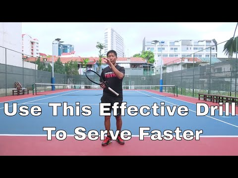 Tennis Serve Tips: Use This Effective Drill To Serve Faster