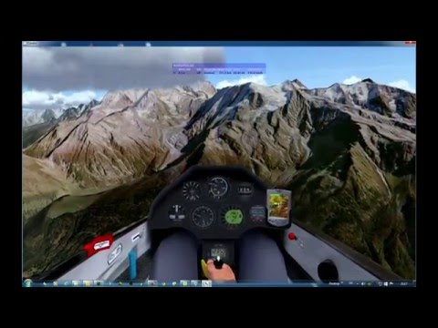 Condor Soaring Simulator Frankreich - Kroatien Part 3: Megeve - Comer See