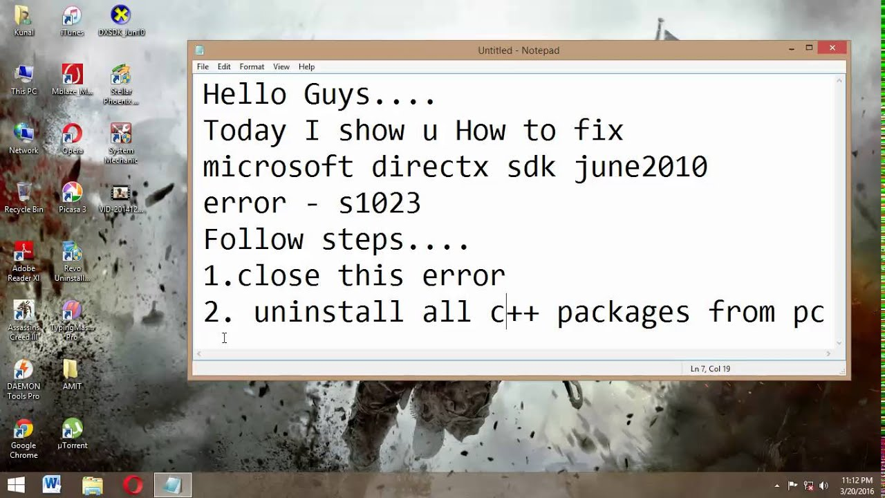 How To Fix Microsoft DirectX SDK Error Code   S1023