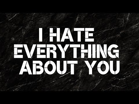 Three Days Grace - I Hate Everything About You (Lyrics)