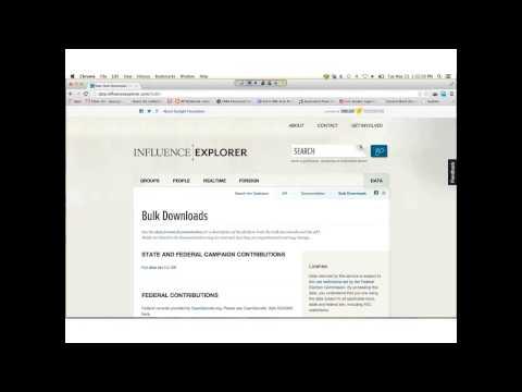 FOREIGN INFLUENCE EXPLORER WEBINAR
