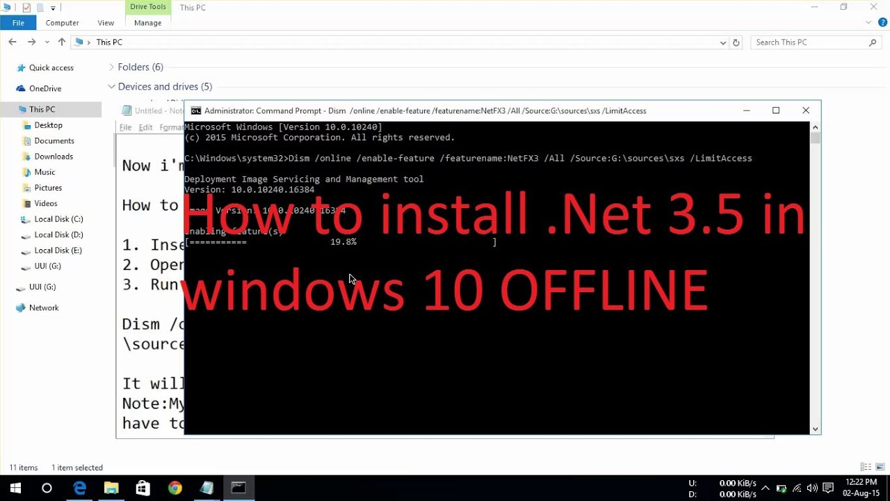 netfx3 windows 10 download offline