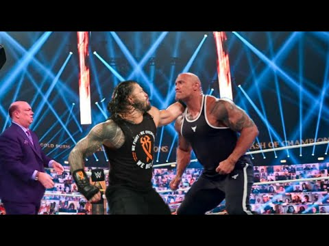 Download The Rock come back on WWE 2021 The Rock attacks his cousin Roman Reigns ? The Rock vs Roman Reigns