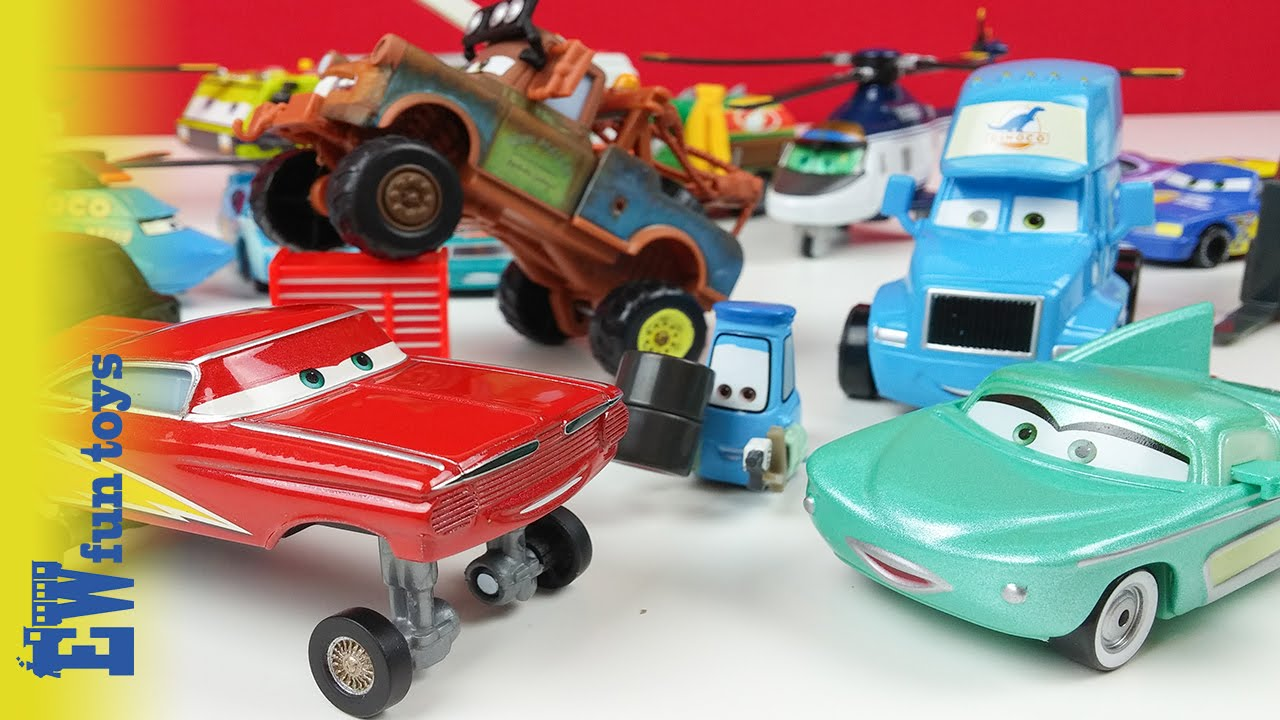 Disney Cars Diecast: Disney Pixar Cars Diecast Toys Part 3 Mattel With Mater