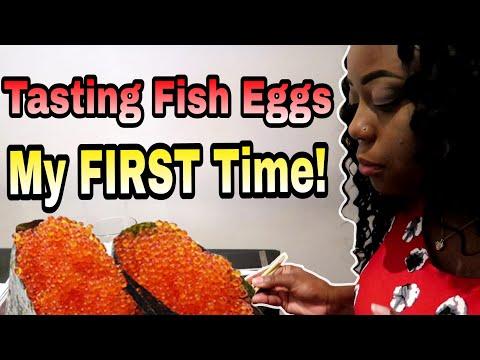EATING FISH EGGS!