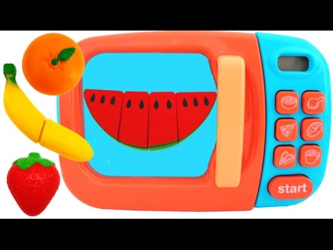Thumbnail: Learn Fruit Names with Squishy Toys & Cutting Fruit Playset for Children