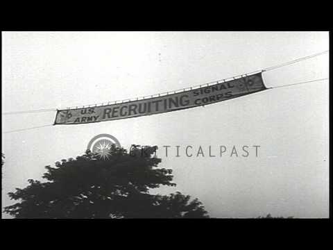 American Army Recruitment Posters HD Stock Footage