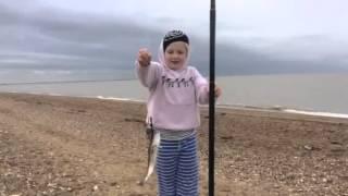 Lovely bit of fishing on Brancaster Beach North Norfolk