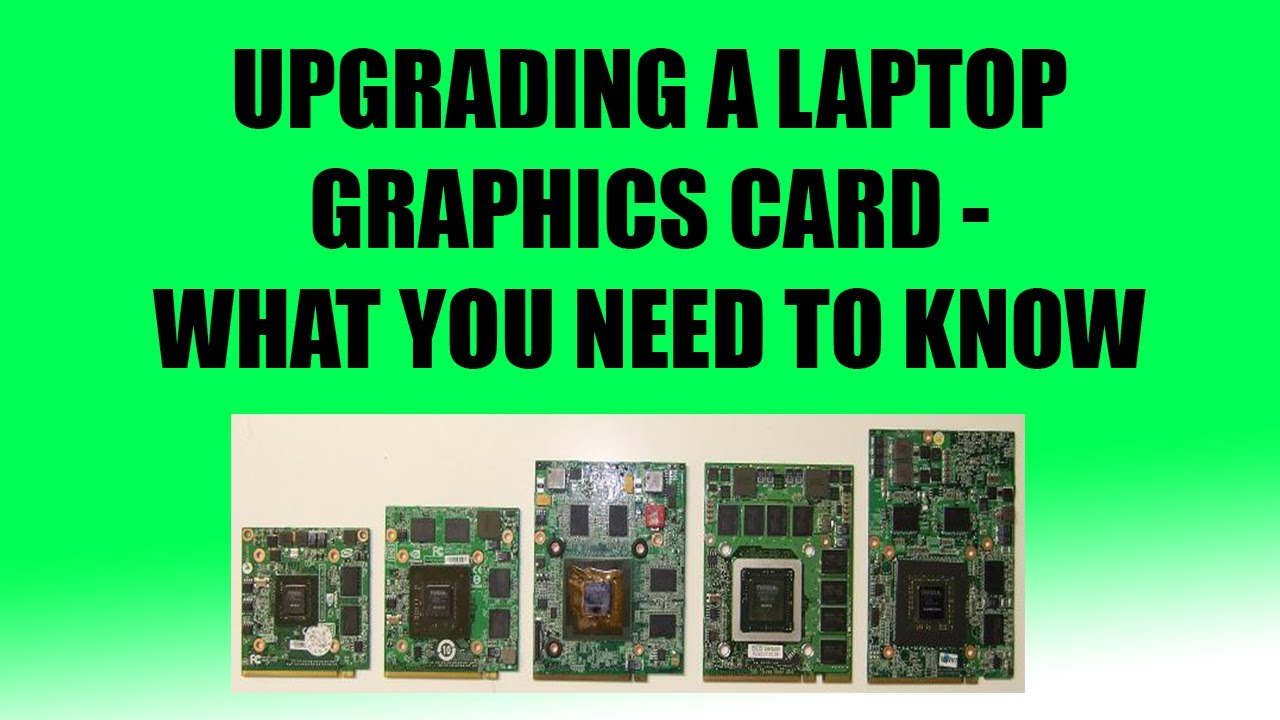 updating laptop graphics card