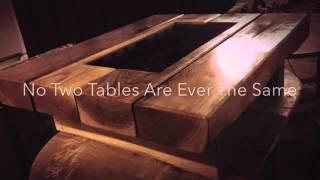 RAILWAY SLEEPER TABLE - Home Of The Chunky Oak Sleeper Coffee Table Paired With Granite Or Slate