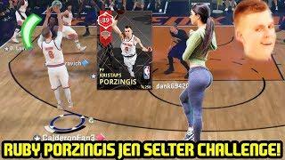 RUBY KRISTAPS PORZINGIS JEN SELTER CHALLENGE! NBA 2K18 MYTEAM gameplay