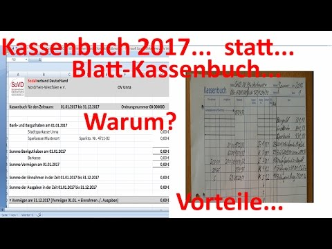 W 0318 =Kleines Kassenbuch = statt Blatt-Kassenbuch =Warum?
