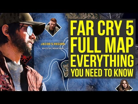 Far Cry 5 Gameplay FULL MAP Shown & Explained (Far Cry 5 map - Farcry5 - Farcry 5 - Far Cry 5 News)