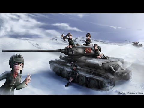 Girls und Panzer [AMV] Pravda - We are the red cavalry