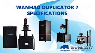 Wanhao Duplicator D7 Specifications