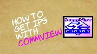 How to get IPs with CommView
