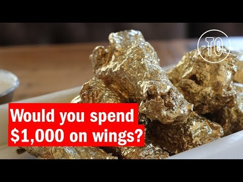 The Ainsworth NYC is now serving 24 karat gold wings