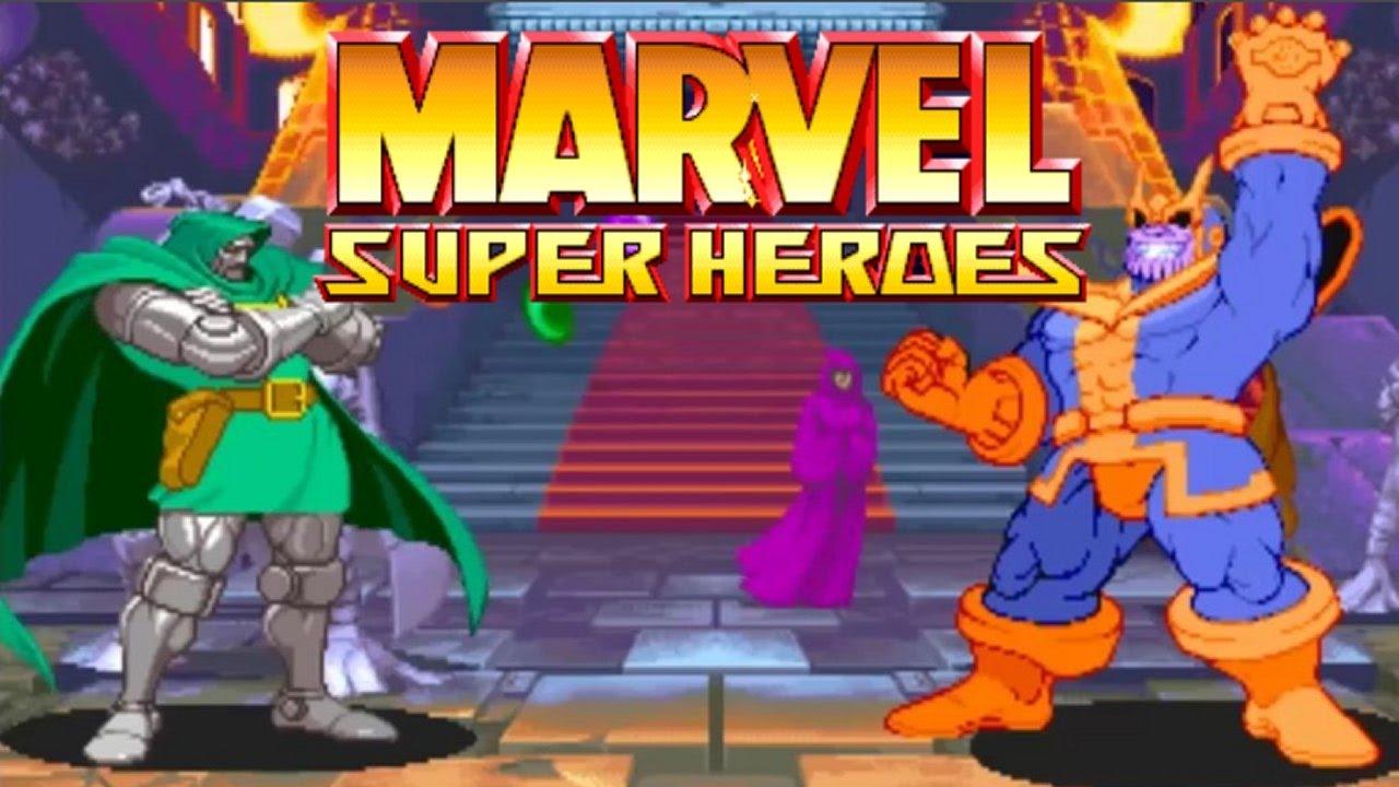 Marvel Super Heroes 60 Superhéroes: MARVEL SUPER HEROES (ARCADE CPS2) Dr.DOOM Playthrough