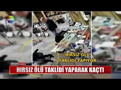 Hırsız ölü Taklidi Yaparak Kaçtı