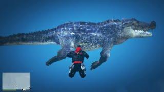ich finde das geheime riesen krokodil in GTA 5