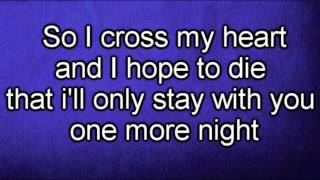 Repeat youtube video Maroon 5 - One More Night (Lyrics)