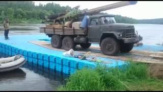 Бурение скважины на воде с помощью пластиковых понтонов Magic Float(, 2016-06-27T12:32:41.000Z)