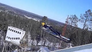 Ski Jumping & Crashes - 2012 Continental Cup