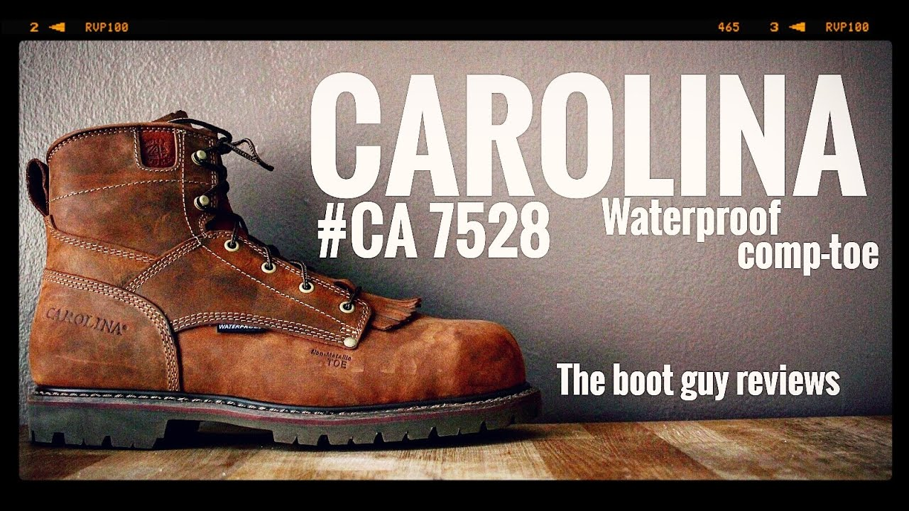 "4eeb26e2156 CAROLINA 6"" Waterproof Composite Toe Work Boot #CA7528 [ The Boot Guy  Review]"