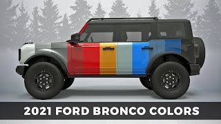 2021 Ford Bronco Colors