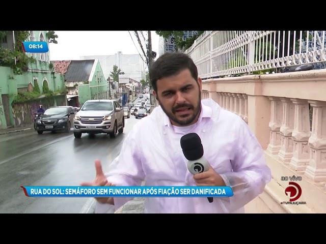 Após dano na fiação, semáforo está sem funcionar no Centro de Maceió