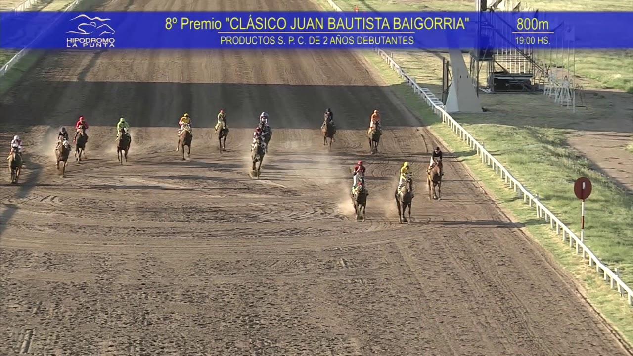 Domingo 16 de Febrero de 2020 -Premio CLÁSICO JUAN BAUTISTA BAIGORRIA-800 mts-Hipódromo La Punta