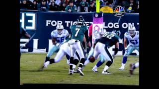 Jason Kelsey, Eagles NFL Center Snaps the Ball to His own Butt!