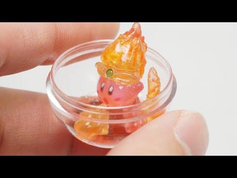 レジンフィギュア クリアレジン(星のカービィ)ファイヤーカービィのまんまる!カプセルフィギュア【resin figure/DIY】Fire Kirby in capsule