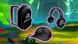 How to get the headset and the backpack from Jurássic Park 2019 Roblox