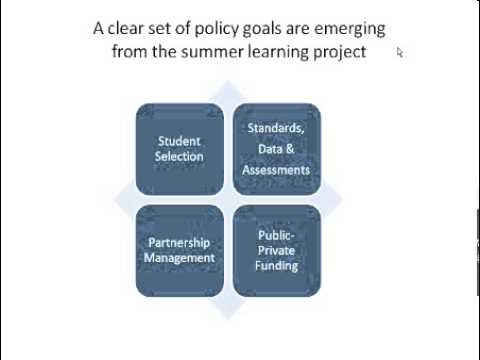 Webinar: Stopping the Summer Slide -- The Role That Networks and Policymakers Can Play