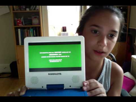 UNBOXING OF SYLVANIA 7 INCH PORTABLE DVD PLAYER
