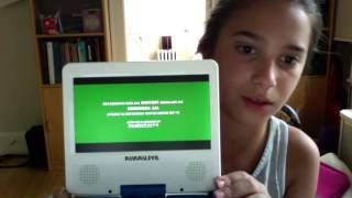 UNBOXING OF SYLVANIA 7 INCH PORTABLE DVD PLAYER!!!