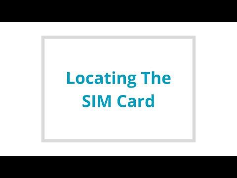 Locating the SIM Card