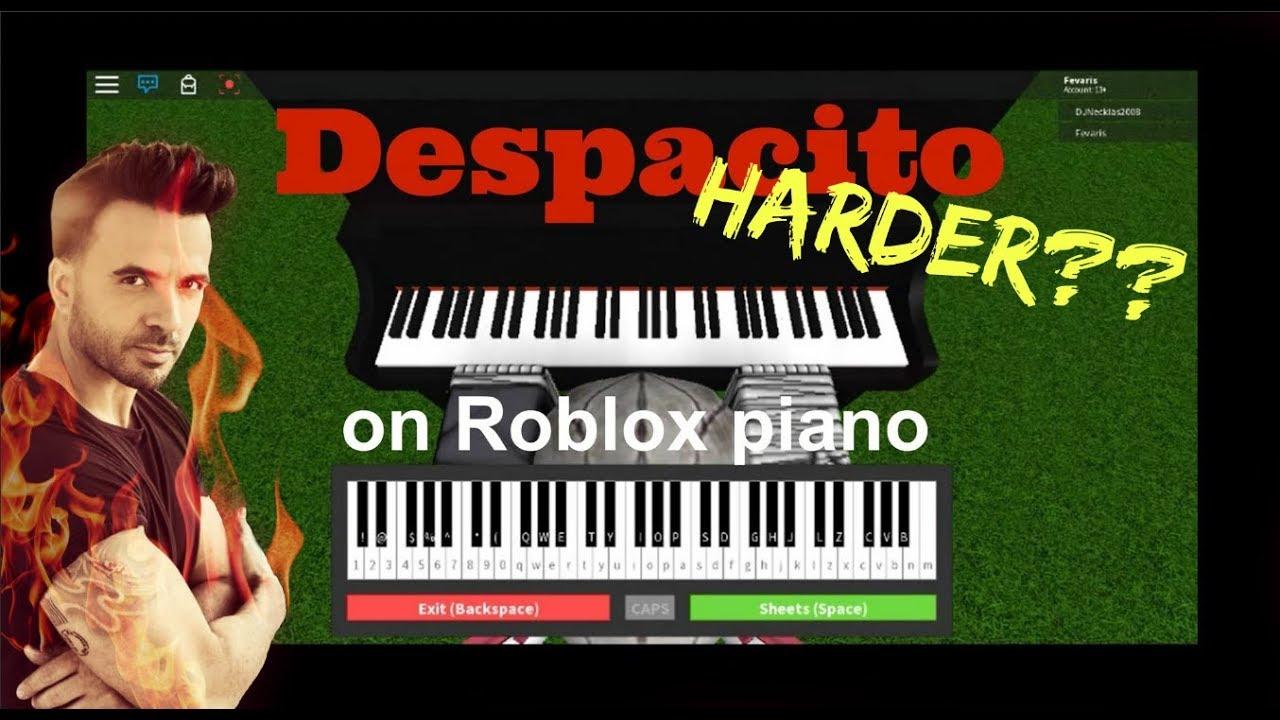 Despacito On Roblox Piano Hard Youtube
