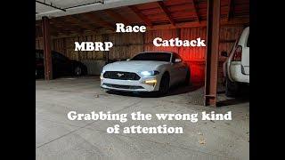 2018 Mustang GT MBRP race exhaust   Its loud!!!