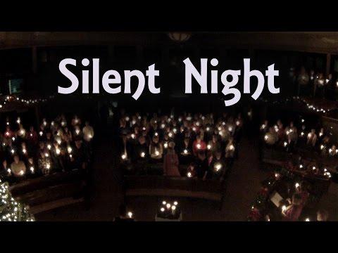 Silent Night Lyrics - Christmas Eve Candlelight Service (piano, organ, a cappella)