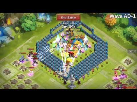 Castle Clash - Beating HBM AC!!!!!!