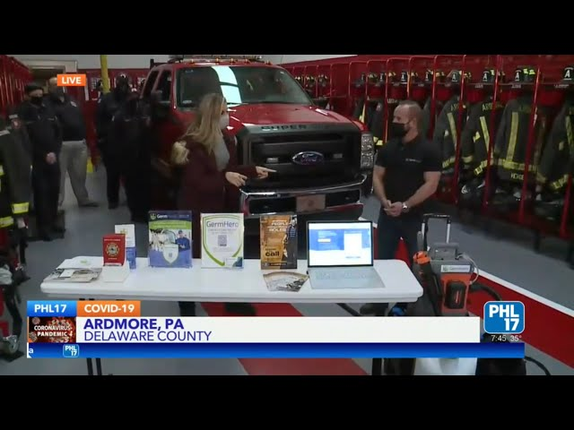 PHL17 Live - Germ Hero Gives Back to First Responders in Philadelphia with Expert Disinfection