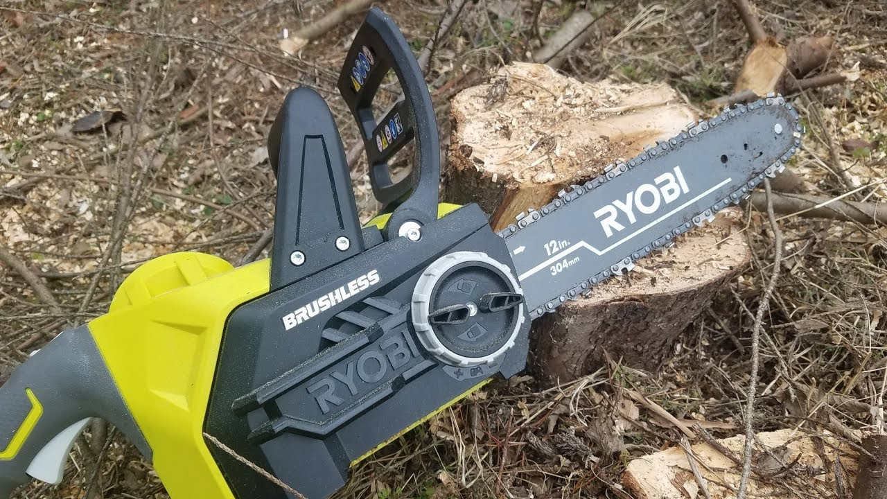 Ryobi One 18v Brushless Cordless 12 Chainsaw Review Youtube