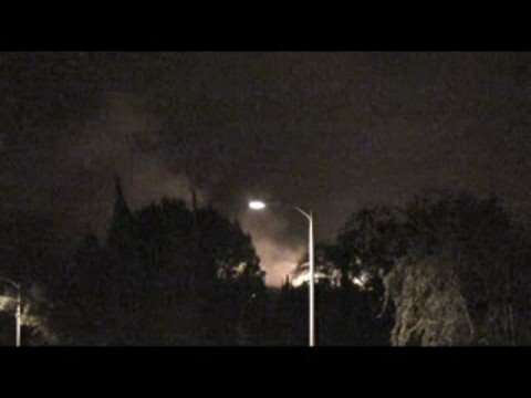 Sesnon Fire - Porter Ranch California (Video 1)