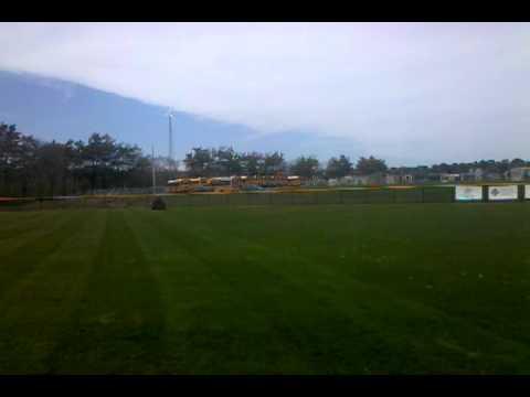 Mowing Grass Baseball Field Marthas Vineyard Regional High School