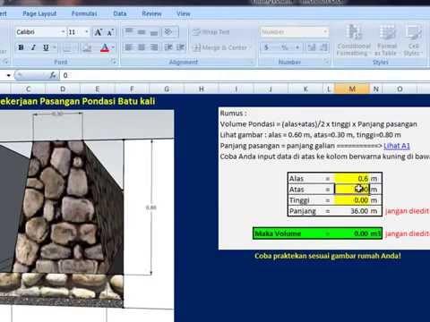 Cara Mudah Menghitung Volume Pekerjaan Bangunan Rumah
