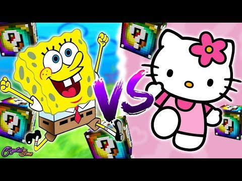 HELLO KITTY VS BOB ESPONJA | BATALLA DE LUCKY BLOCKS SPIRAL