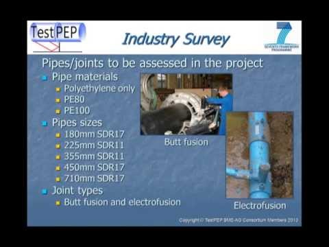 NDE of PE pipe welds. TestPEP - an EU project. Part one of nine.